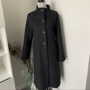 ARITZIA Wilfred Long Wool Coat Black Size Large